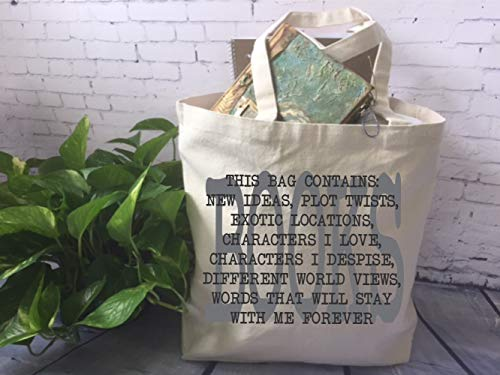 Book Lover Canvas Tote Bag, Book Quote Tote Bag, Tote Bag, Teacher Christmas Gift, Librarian Gift, Book Club Gift, Hostess Gift