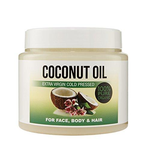 Kaltgepresstes extranatives Kokosöl für die Körper-, Haar-, Nagel- und Gesichtspflege, Coconut Moisturiser 100{45775240b91b2a71b4fb2acc2ab2ee5dab4fd047f5805c4b885b90c2e21ec039} organisch 500 ml