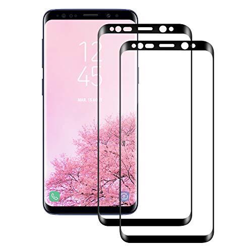 Snnisttek Panzerglas Schutzfolie für Samsung S8 -[2 Stück] Panzerglasfolie Galaxy S8-9H Härte Displayschutzfolie, Ultra Kristallklar 99% Transparenz-Schutz vor Kratzen, Öl, Bläschen