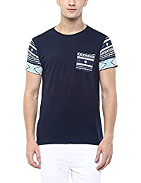 Aventura Outfitters Men's Crew Neck With Contrast Pocket Printed T-Shirt