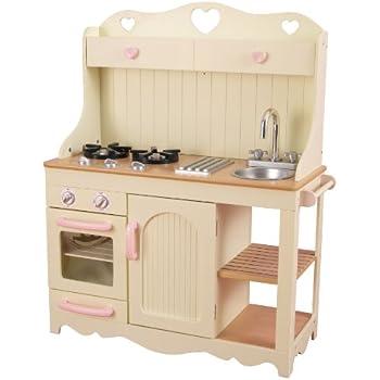 Kidkraft Vintage Wooden Play Kitchen Pink Amazon Co Uk