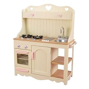 KidKraft- Cocina de juguete de madera Prairie, para niños , Color Blanco (53151)