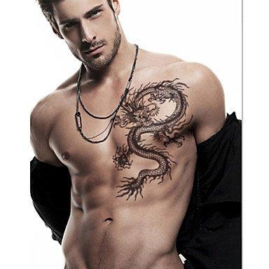 Loong Chinesischer Drache Tattoo Aufkleber Temporäre Tätowierungen (Drache Temporäre Tattoo)