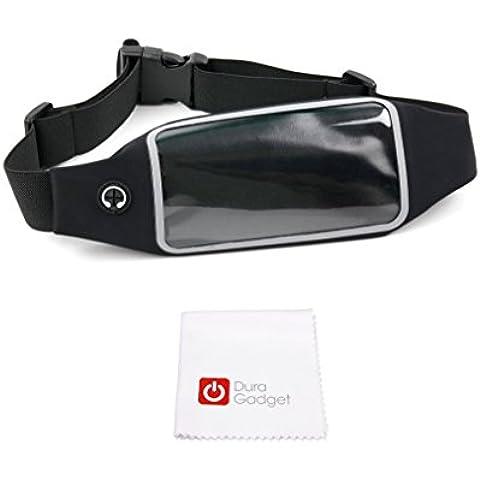Cinturón Deportivo Pecho DURAGADGET | Cintura Para Smartphone Lenovo K4 Note / Vibe S1 Lite / K5 Note / Moto G4 / G4 Plus / G4 Play Y Pertenencias + Paño De Obsequio - ¡Es Impermeable Y Regulable!