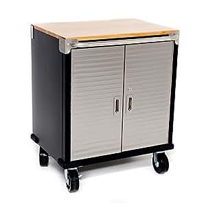 garage metall 2 t r schrank auf rollen handels blicher qualit t von seville classics. Black Bedroom Furniture Sets. Home Design Ideas