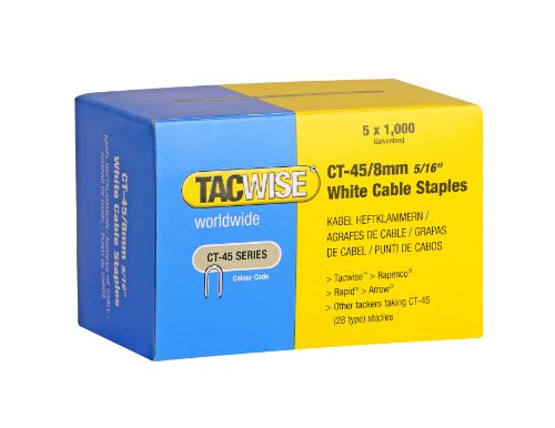 Tacwise 0980 Grapas cables serie CT-45 x 8 mm 5 cajas