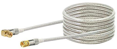 SCHWAIGER -9536- Satellitenkabel 10 m 110dB / 90° Winkel-Stecker / HDTV Antennen-Kabel / SAT-Kabel 75 Ohm / Koaxial-Kabel / TV-Kabel / 4-fach geschirmt / robuste Vollmetallstecker / Abschirmunsmaß 110dB / DVB-S, DVB-S2