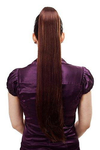 27 Haarteil/Zopf, sehr lang, glatt, Butterfly-Klammer, ca. 70 cm, Braun-Blond-Mix (Blonde Lange Perücke Mit Einem Zopf)