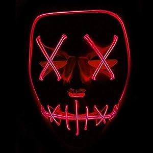 FowerYY Coole Persönlichkeit Halloween Horror Glow Maske Party Karneval LED Glow Maske
