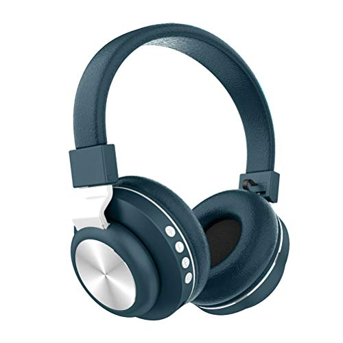 JHSHENGSHI Bluetooth Kopfhörer, Kabellos Stereo Faltbare Kopfhörer Kabellose und Kabel-Kopfhörer mit Integriertem Mikrofon, Musikgenuss für bis zu 8 Stunden,Micro SD/TF, für Handys/iPad/PC, Green -