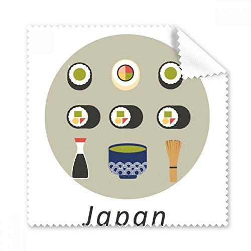 Traditionellen Japanischen lokale Food Sushi Gläser Tuch Reinigungstuch Geschenk Handy-Display von 5x Sushi Glas