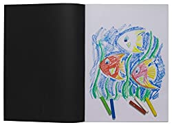 A3 Artist Sketch Book White Cartridge Paper Black Card Cover Art Pad