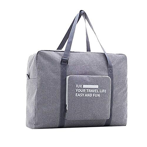TianranRT★ Aufbewahrungstasche, Faltbare Reisetasche Aus Segeltuch Reisetasche Aus Segeltuch Tragbarer Wickeltisch Und Wasserdichte Taschen, Grau
