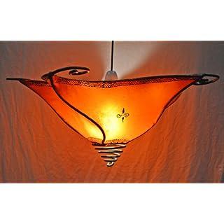 Ceiling Moroccan Henna Lamp- Star - Orange Di 40CM-