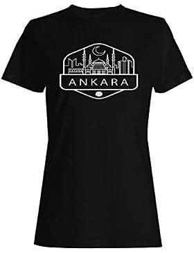 Ankara viajar el mundo explorar sello camiseta de las mujeres e331f