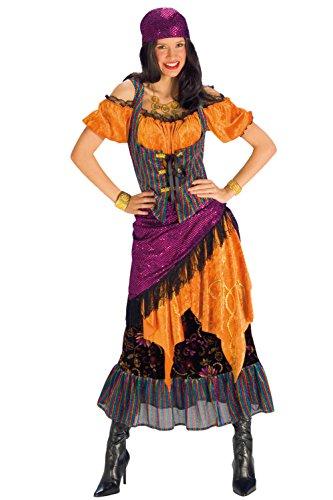 46 Wahrsagerin-Kostüm, unisex-adult, 44/46 (Zigeunerin Wahrsagerin Kostüm)