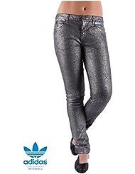 Femmes adidas Originals facile de cinq Denim Jeans (w38411) (Gris/Argent) (Largeur 61cm/L32)
