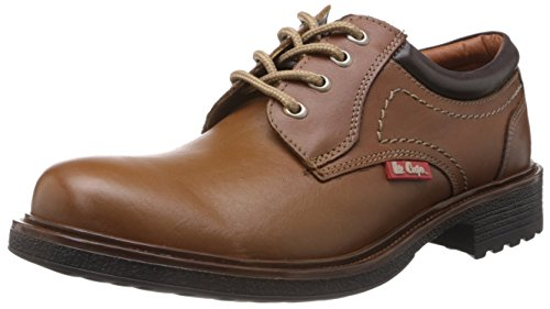 Lee Cooper Men's Tan Leather Boat Shoes - 8 UK