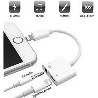 Adapter für iPhone 7, Going Lightning auf 3,5mm AUX Adapter Kopfhörer Jack für iPhone 8, 2in 1Lightning-Adapter für iPhone, Unterstützung iOS 11