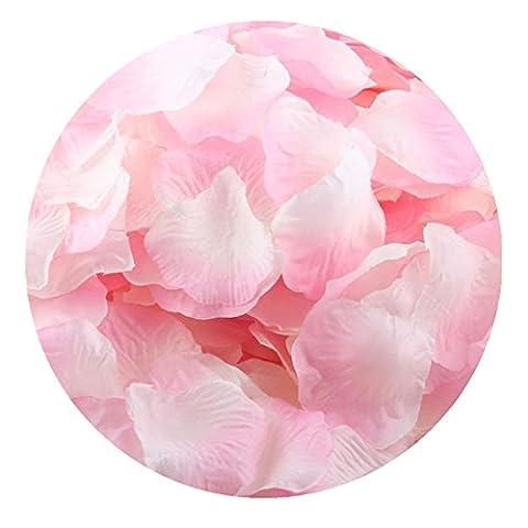 FEITONG 1000pcs Silk Rose Petals Fleur artificielle Confetti Wedding Favor Bridal Shower Aisle Decor (L)
