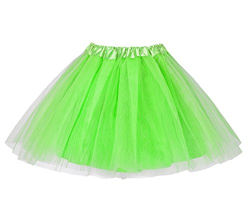 EXCHIC Damen Tüllrock mit Ballerina-Tüllmuster - Grün - Freie Größe
