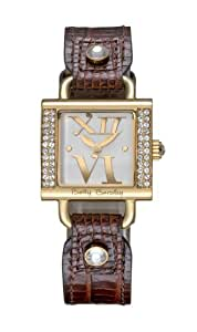 Betty Barclay Women's Quartz Watch with White Dial Analogue Display and Brown Leather Strap BB058.20.305.060