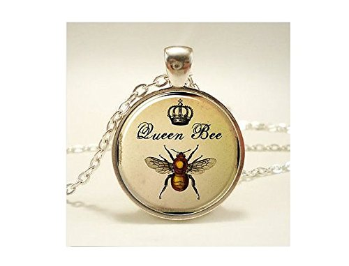 Queen Bee Halskette, Royal Crown Insekten Art Anhänger, Biene Schmuck
