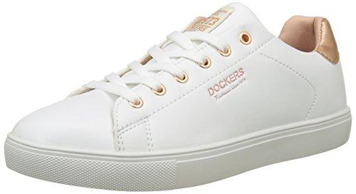 Dockers by Gerli Damen 38PD205-610592 Sneakers, Weiß (Weiss/Rosegold 592), 38 EU