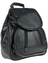 Marc Chantal & Co - Mochila con bolsillo para tablets de 7-10'' (piel) negro negro 30 x 24 x 11 cm