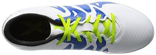 adidas X 15.3 Tf J, Chaussures de Foot Mixte Bébé Blanc / Noir / Vert (Ftwbla / Negbas / Seliso)