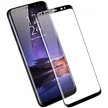 Frazil Samsung Galaxy S9+ Plus Full Coverage 5D Tempered Glass, Full Edge-to-Edge 5D Screen Protector (Black)
