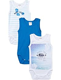 Absorba 3 Bodies Sm Beach Fun, Body para Bebés