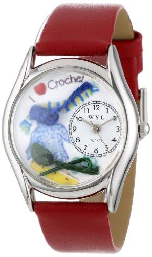 Whimsical Watches Unisex-Armbanduhr Analog Quarz Leder S-0440005