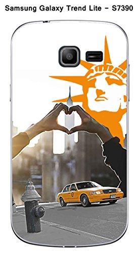 Coque Samsung Galaxy Trend Lite S7390 design New York - Taxi jaune