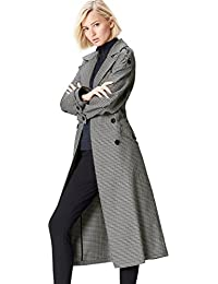 Amazon Brand - find. Women's Check Trench Coat