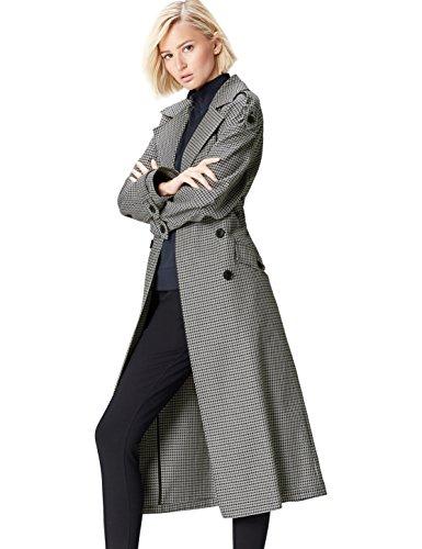 find. Mantel Damen Trenchcoat Style mit Oversize-Design Grau (Grey), 42 (Herstellergröße: X-Large)