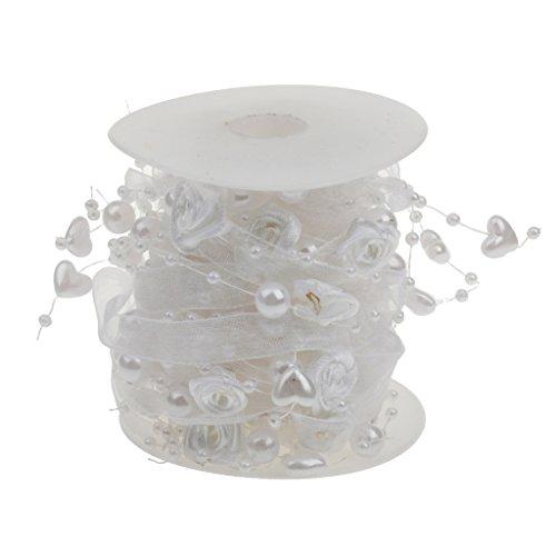 5m Perle Perlenkette Girlande Blume Herz-Perlen-String Braut Hochzeit - Kunststoff-handwerk String
