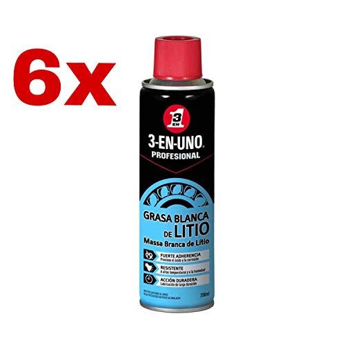 Kit 6 x 3 EN UNO Profesional 34453 - Spray grasa blanca...