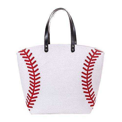 X. SEM Langlebig Übergroße 58,4cm Baseball Softball Canvas Baumwolle Sport Tasche Utility Weekender Beach Totes Schulter Taschen, baseball -
