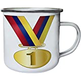 Nueva Venezuela Oro Cinta Retro, lata, taza del esmalte 10oz/280ml l276e