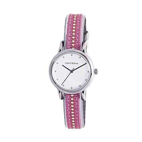 tokyobay-t623-pk-da-donna-acciaio-inossidabile-cinturino-in-nylon-rosa-quadrante-bianco-smart-watch