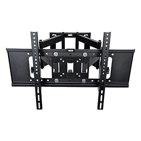 BPS Dual-Arme TV Wandhalterung schwenkbar neigbar Plasma LCD LED Wandhalter für Fernseher mit 76- 178cm (30 - 70