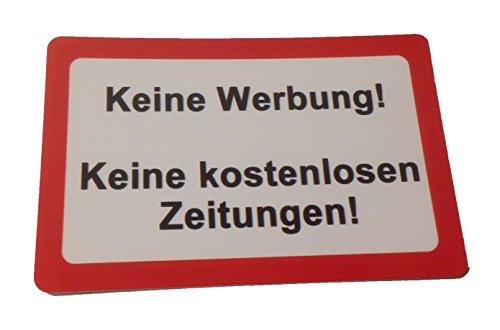 KaiserstuhlCard Magnet 2x Keine Werbung keine kostenlosen Zeitungen magnetisch und selbstklebend Aufkleber Tür Schild Türschild Briefkasten Briefkastenschild Haus Praxis Büro Geschäft