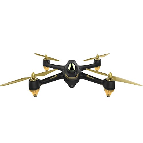 *Hubsan H501S X4 Brushless FPV GPS Quadrocopter 5.8 Ghz Drohne mit 1080P Full HD Kamera und Follow-Me Modus RTH-Funktion Schwarz&Gold*