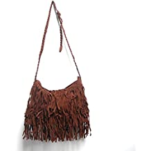 THG Stylish Women Girl Ladies Handbag Fringed Bags Shouler Bag (Coffee)