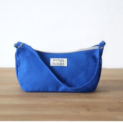 &ZHOU Handtaschen Frauen Leinwand Tuch Pakete Freizeit-Paket Schalen tragbare Taschengeldbörse Blue
