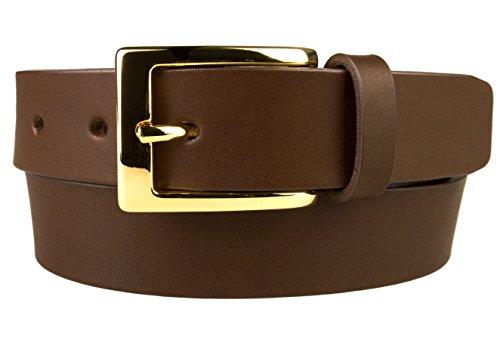 e0ee37cfa0c Belt Designs Ceinture - Homme - boucle brillante plaquée or - En cuir  véritable de qualité