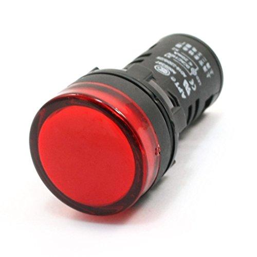 AC / DC 110V 20mA Rote LED-Betriebsanzeige Pilot Einzel-Licht-Lampe 21mm
