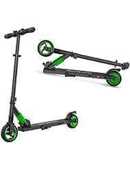 M MEGAWHEELS Monopattino Pieghevole Scooter Elettrico I-Bike da Città Pieghevole, velocità Massima 23km/h, Autonomia 15km per Adulti e Bambini(Verde)
