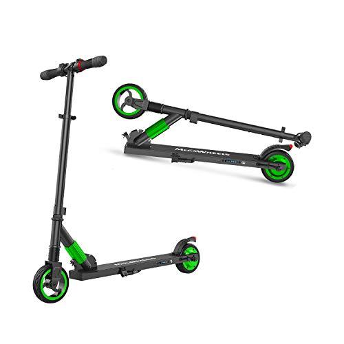 M MEGAWHEELS Elektro Scooter Klappbar City-Roller, E Scooter, Tret-Roller für Erwachsene und Jugendliche S1 Grün